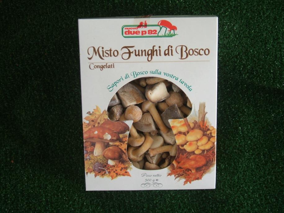 Mixed frozen mushrooms